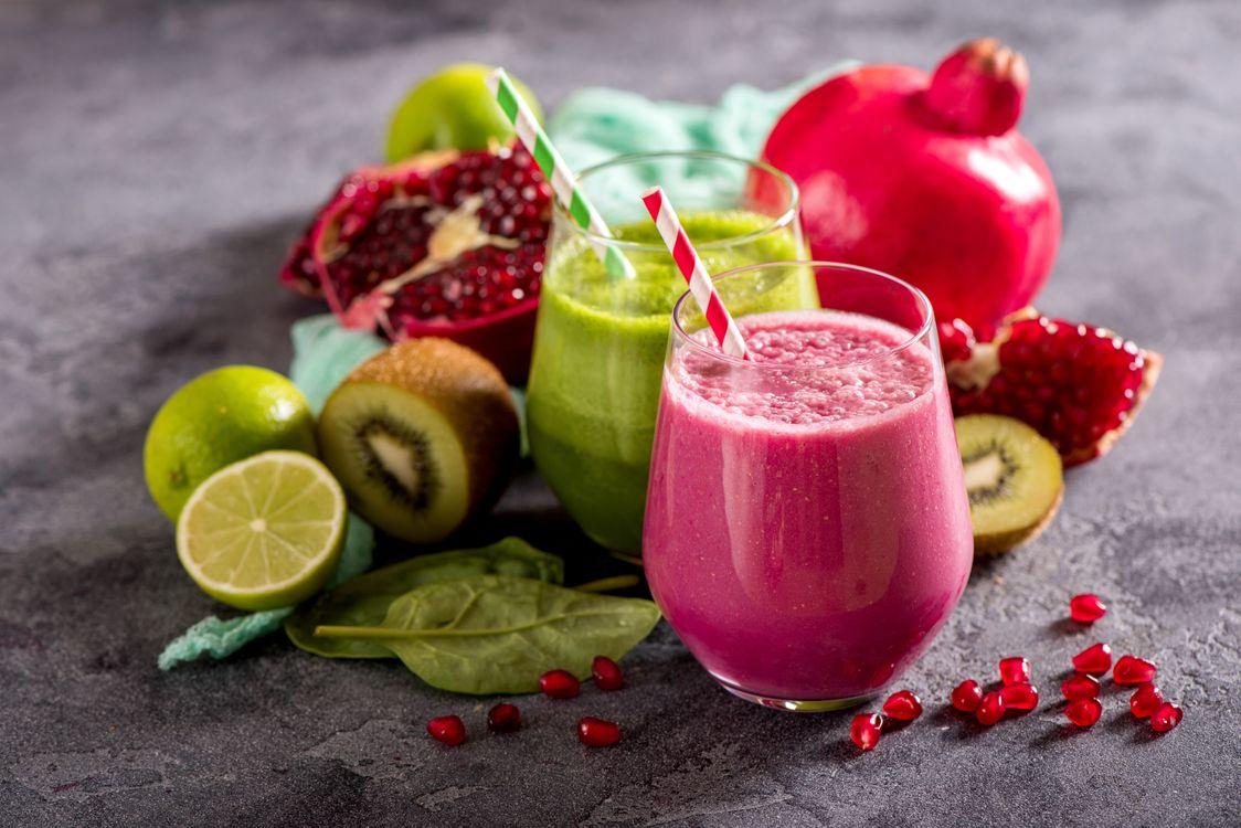 Фото бесплатно напиток, смузи, фрукты - на рабочий стол
