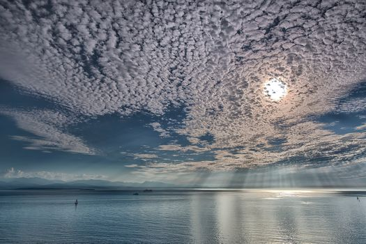 Photo free The Strait of Juan de Fuca, Sailing on a Silver sea, Whidbey island