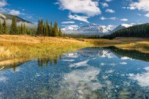 Фото бесплатно Национальный парк Банф, вода, горы