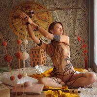 Фото бесплатно девушка-самурай, секси, молода