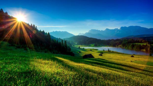 Фото бесплатно sunrise, Garmisch-Partenkirchen, Geroldsee