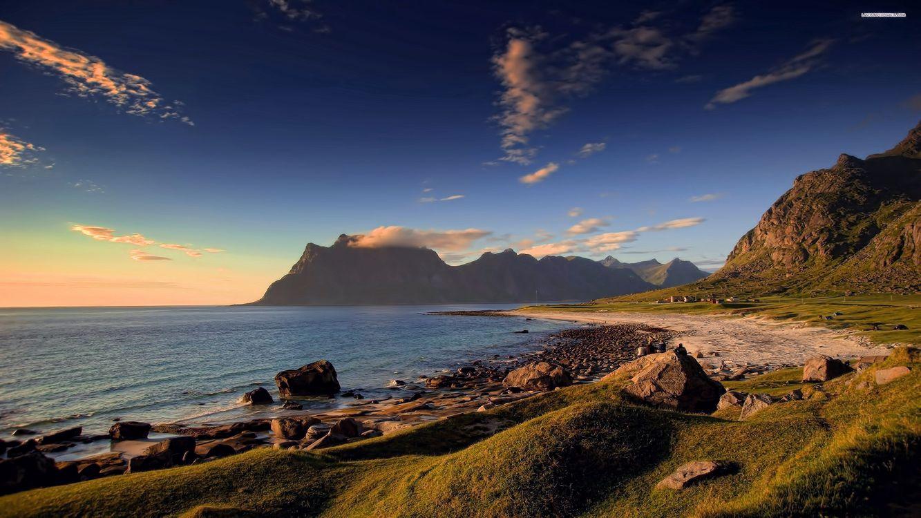 Фото бесплатно пляж, Аргентина, берег, береговая линия, скалы, песок, трава, пейзажи