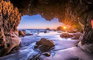 Фото бесплатно Море пещера, море, Malibu