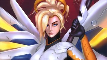 Photo free Mercy Overwatch, Overwatch, Games