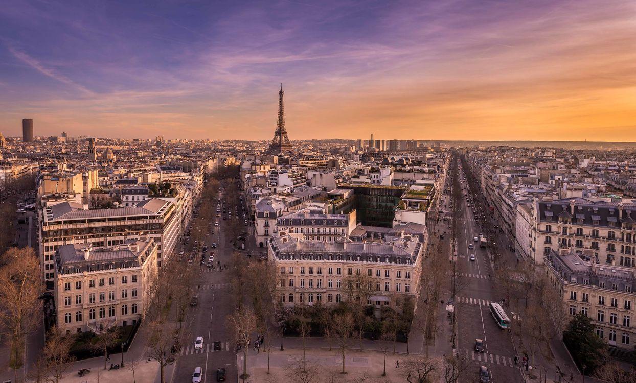 Фото бесплатно Париж, восход солнца, город - на рабочий стол
