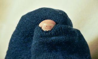 Photo free sock, hole, humor