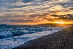 Фото бесплатно Sunset at Seaford Beach, закат, море