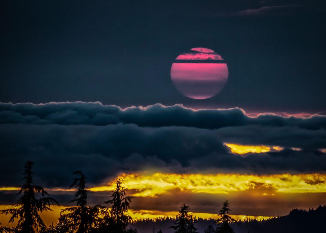 Фото бесплатно Закат, розовый, небо - на рабочий стол