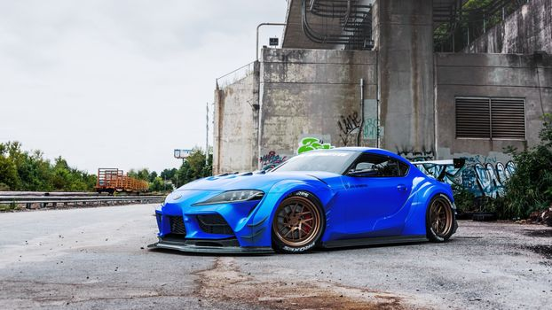 Photo free toyota supra, racing cars, blue