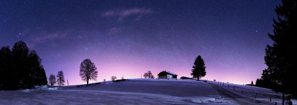 Фото бесплатно Юра Хиллз ночью, Ла Шо-де-Фон, Швейцария