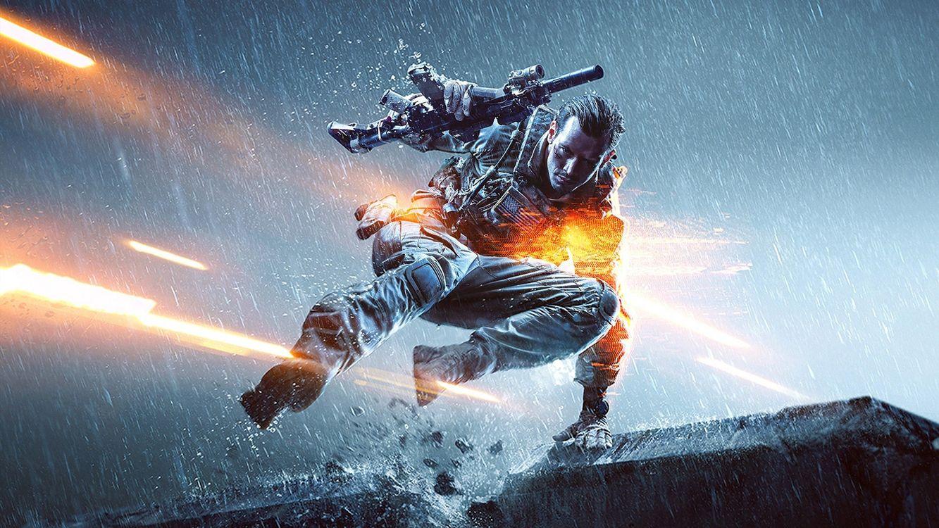 Солдат Battlefield прячется от пуль · бесплатное фото