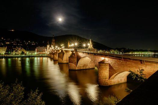 Фото бесплатно Гейдельбергский мост, Неккар, Баден-Вюртемберг