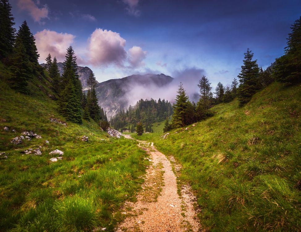 Фото бесплатно горы, холмы, тропинка - на рабочий стол