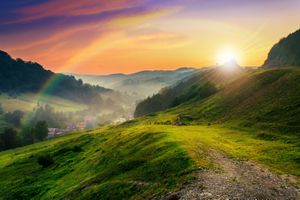 Фото бесплатно луг, горы, природа