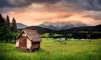 Фото бесплатно Partenkirchen, сельская местность, Гармиш