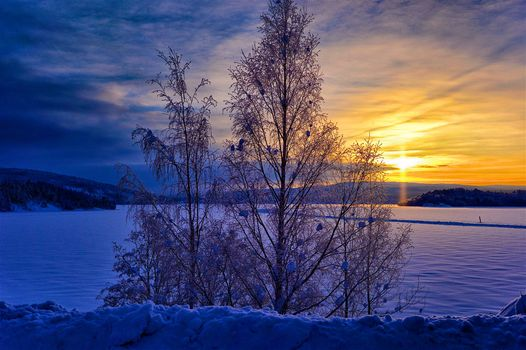 Река Ангерман в Швеции