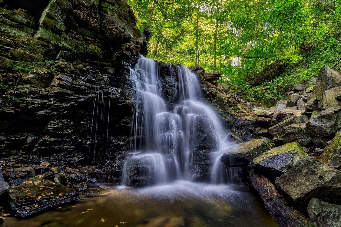 Обои пейзаж, природа, течение воды картинки на телефон