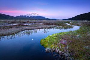 Бесплатные фото Каскадные озера вблизи Бенда,Орегон закат,горы,озеро,пейзаж