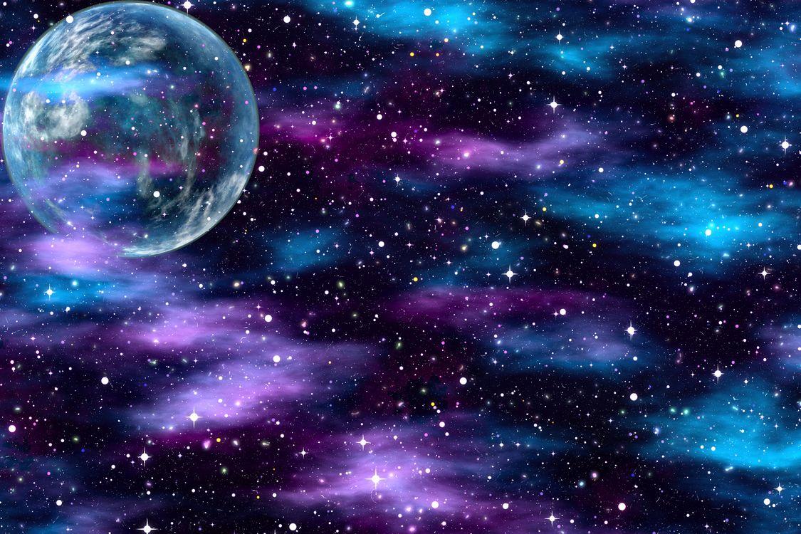 Фото бесплатно космическая абстракция, планета, звезды - на рабочий стол