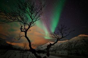 Фото бесплатно огни, горы, ночь