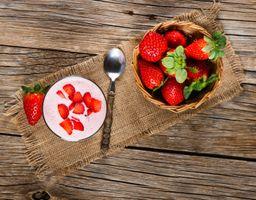 Заставки йогурт,завтрак,ягоды