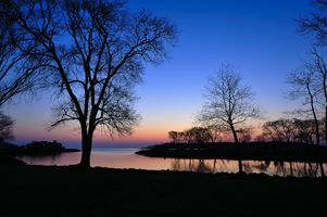 Заставки силуэты, небо, пейзаж