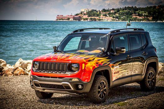 Jeep Renegade fire · бесплатное фото