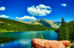 Бесплатные фото колорадо,озеро,размышления,небо,облака,горы,америка