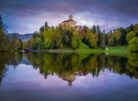 Photo free Croatia, Trakoscan Castle, lake