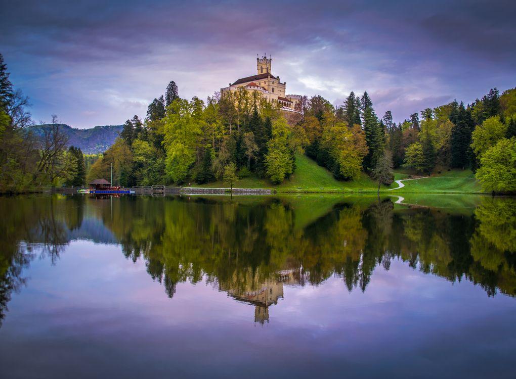 Фото бесплатно Хорватия, замок Тракоскан, озеро - на рабочий стол