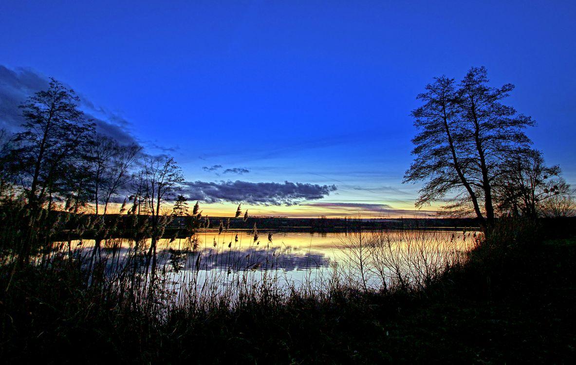 Фото бесплатно закат озеро отражение - на рабочий стол