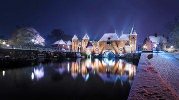 Фото бесплатно Амерсфорт, Нидерланды, Коппельпорт в снегу