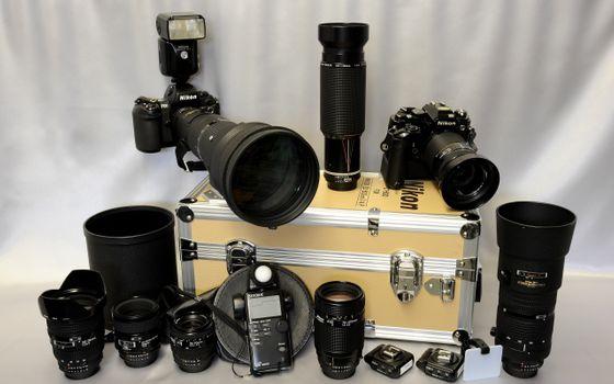 Заставки камера Никон, линзы