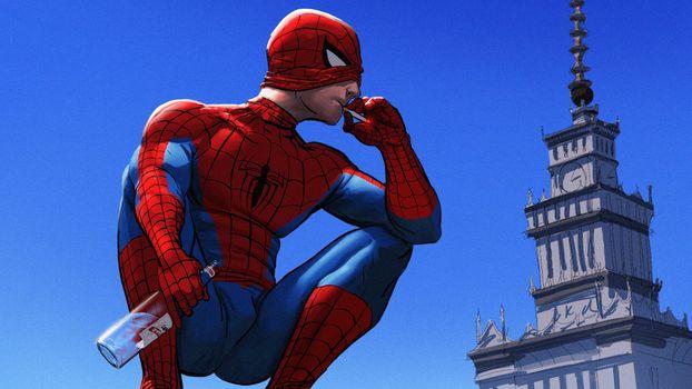 Фото бесплатно супергерои, искусство его, произведение искусства