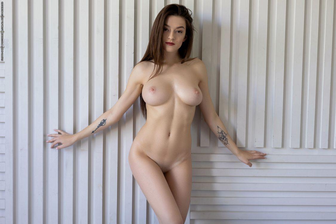 Фото бесплатно Ванда, может, брюнетка, голая, сиськи, соски, киска - на рабочий стол