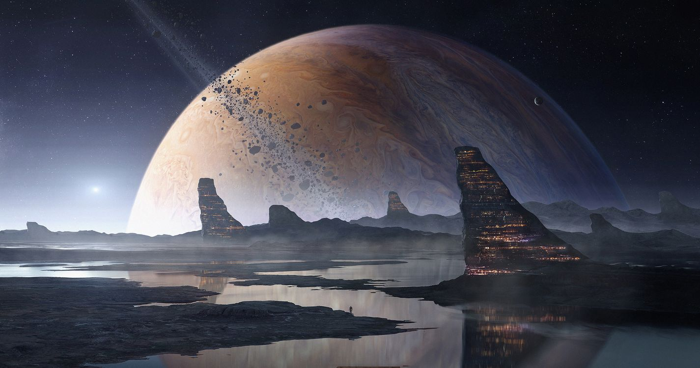 Фото бесплатно Планета, космос, художник - на рабочий стол