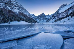 Бесплатные фото Аппенцелль,Швейцария,Аппенцеллерланд,Айсберг,озеро,лёд,льдины