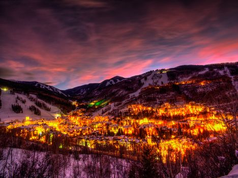 Photo free The village of beaver Creek, a skiing town, Colorado