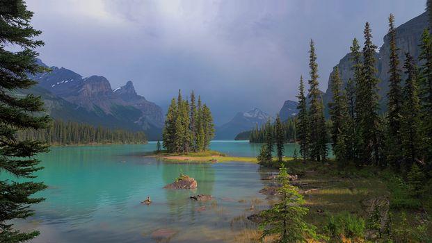 Фото бесплатно Maligne Lake, Jasper National Park, Canada