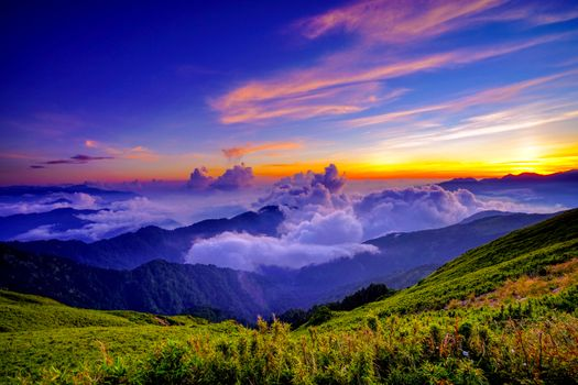 Заставки горы, тайвань, природа