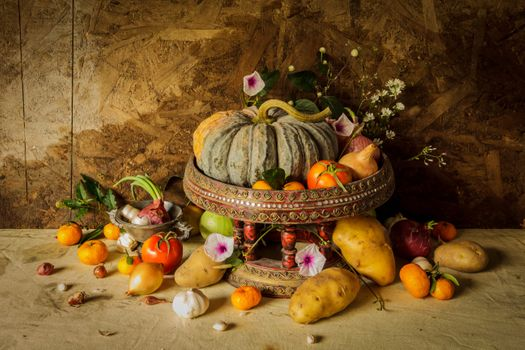 Photo free harvest, still life, the gifts of autumn