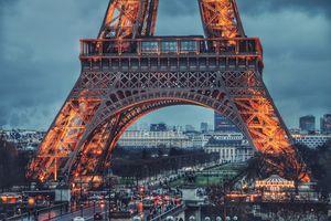 Заставки Париж, Эйфелева башня, люди