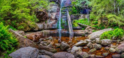 Фото бесплатно Snug Falls, Snug, водоем