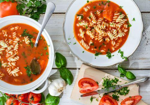 Фото бесплатно чеснок, макароны, суп