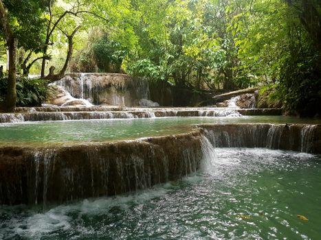 Фото бесплатно Водопады Куанг Си, Луанг Прабанг, Лаос