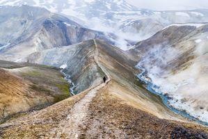 Фото бесплатно Исландия, ландшафты, снег, облака, горы, обои, закат, скалы, природа, поход, kerlingarfjoll, горячий источник, пар