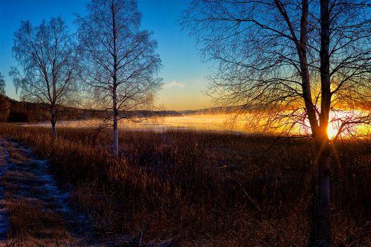 Фото бесплатно Швеция закат, природа, пейзаж