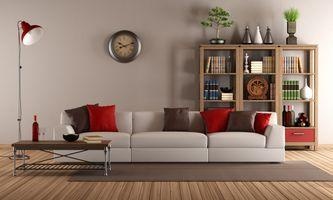 Фото бесплатно интерьер, диван, мебель