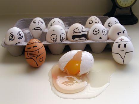 Фото бесплатно коробка, яйца, эмоции