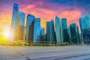 Фото бесплатно город, Сингапур, сумерки